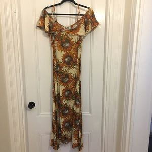 Maxi sunflower dress (LF)